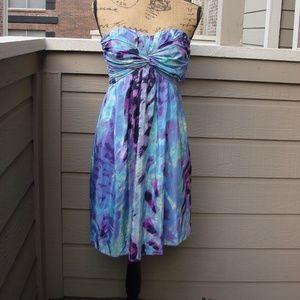 Jessica Simpson Purple & blue bandeau dress Sz S